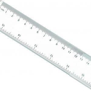 Regla Plástica de 40cm - Transparente - Marca Studmark