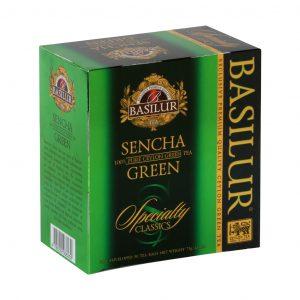 Caja de Té Verde Sencha marca Basilur – 50 unidades
