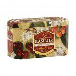 Caja de Metal de Té Negro sabor a Cereza marca Basilur – 20 unidades