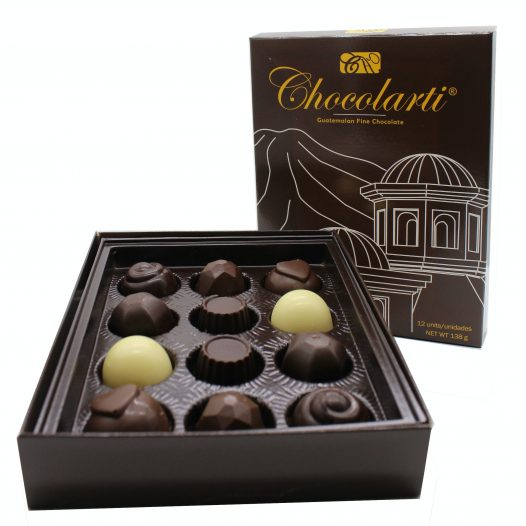 Caja de Trufas de Chocolate Sabores Mixtos - Marca Chocolarti - 12 unidades