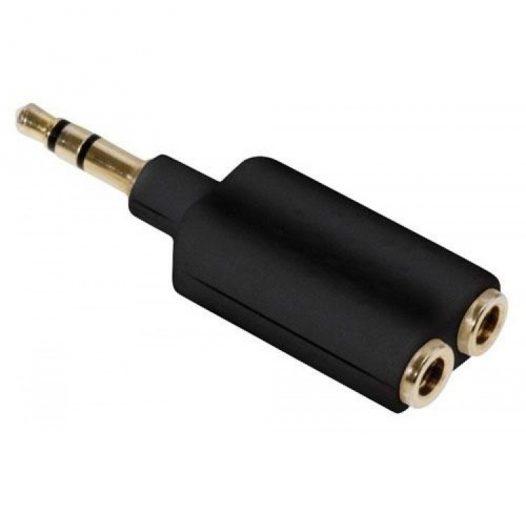 Adaptador Elite de 3,5 mm para conectar 2 audífonos al mismo tiempo