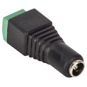 Adaptador Jack invertido 2.1 mm a 2 Terminales Atornillables