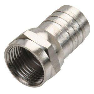 """Conector macho tipo """"F"""" para cable RG59, con anillo largo (Coaxial)"""