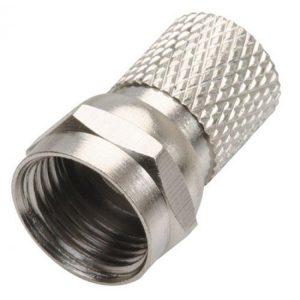 """Conector macho tipo """"F"""" para cable RG6, de enroscar"""