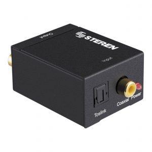 Convertidor de audio digital (óptico digital o coaxial digital) a analógico (RCA)