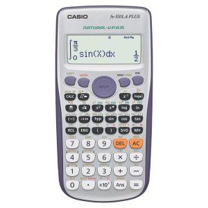 Calculadora Científica Classwiz fx-570LA PLUS - Color Gris con Morado - 417 Funciones - Marca Casio