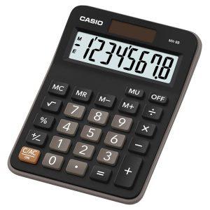Calculadora Práctica de 8 Dígitos - Color Negro con Gris - Marca Casio