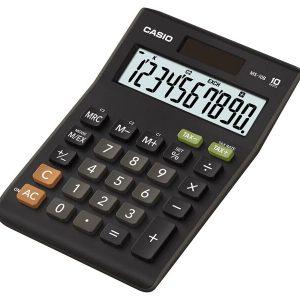 Calculadora Práctica de 10 Dígitos - Color Negro con Gris - Marca Casio