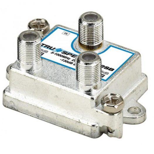 Divisor de 2 salidas verticales 1 GHz, 5-1000 MHz con caja soldada
