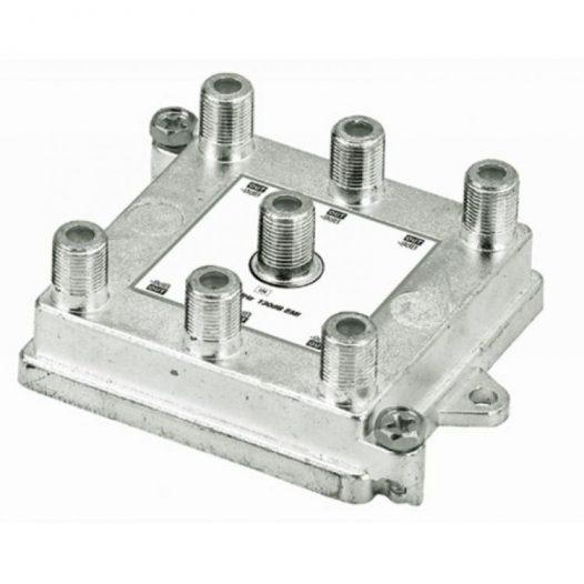Divisor de 6 salidas verticales 1 GHz, 5-1000 MHz con caja soldada