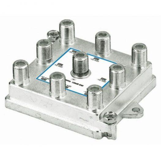 Divisor de 8 salidas Verticales, 1 GHz, 5-1000 MHz, con caja soldada