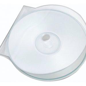 Paquete de 50 Estuches para CD Redondos -  Transparentes