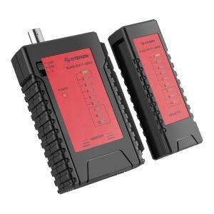 Probador de Cables Multiredes de Categoría 5 UTP, FTP, STP y Coaxial marca Steren