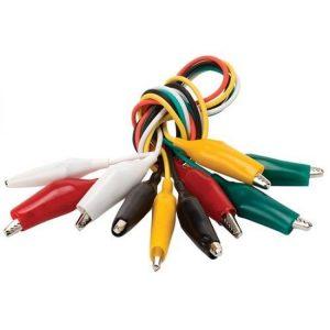 Juego de 5 Cables de 40 cm con Caimanes Pequeños marca Steren