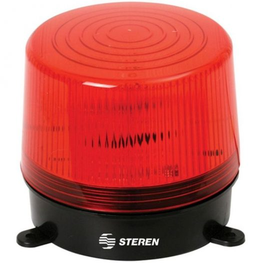 Luz roja estrobo para alarmas