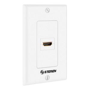 Placa de Pared con conector HDMI®hembra (Jack) marca Steren