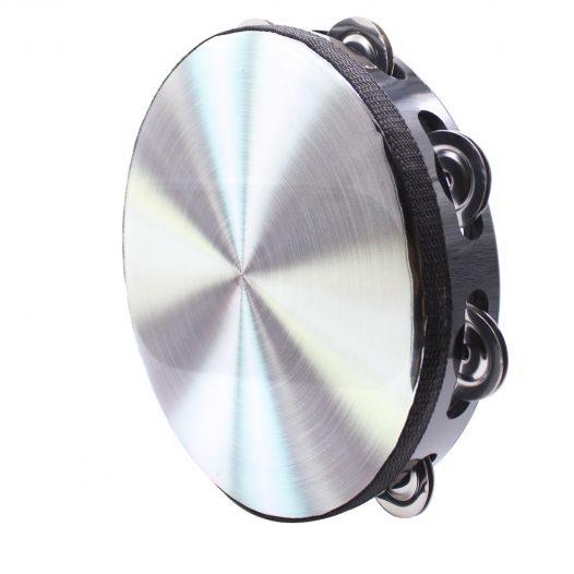 """Pandero Silver de 8.5"""" - Metalizado - Marca Bochelli Exalta"""