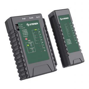 Probador de Cables de red UTP, FTP, STP, PoE y telefónico marca Steren