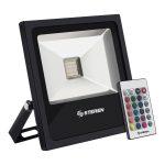 Reflector LED RGB de 20 Watts para Intemperie marca Steren