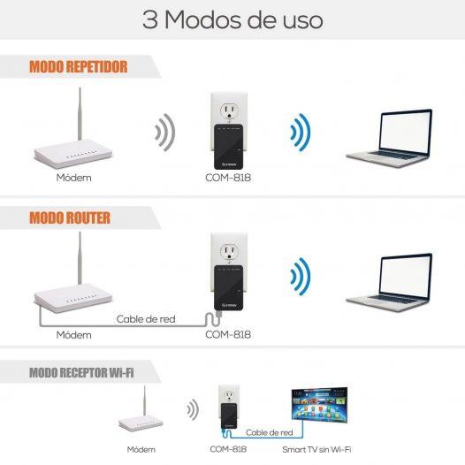 Repetidor / Router Wi-Fi N300 marca Steren