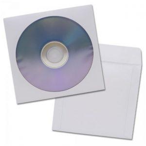 Paquete de 100 Sobres para CD - Color Blanco