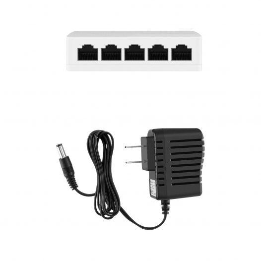 Switch Ethernet de 5 Puertos 10/100 MBPS marca Steren