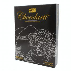 Caja de Trufas de Chocolate Sabor a Café - Marca Chocolarti - 12 unidades