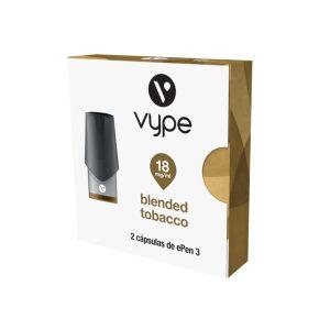 Paquete de 2 eCaps sabor Blended Tobacco con 18mg de Nicotina