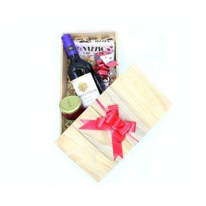 """Caja """"Dulces momentos"""" con Vino Carmenére para el Día del Cariño"""