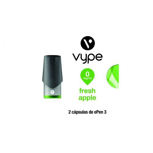 Paquete de 2 eCaps sabor Fresh Apple con 0mg de Nicotina