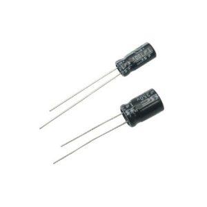 Capacitor electrolítico radial, de 1000 uF (micro Faradios) a 16 Volts