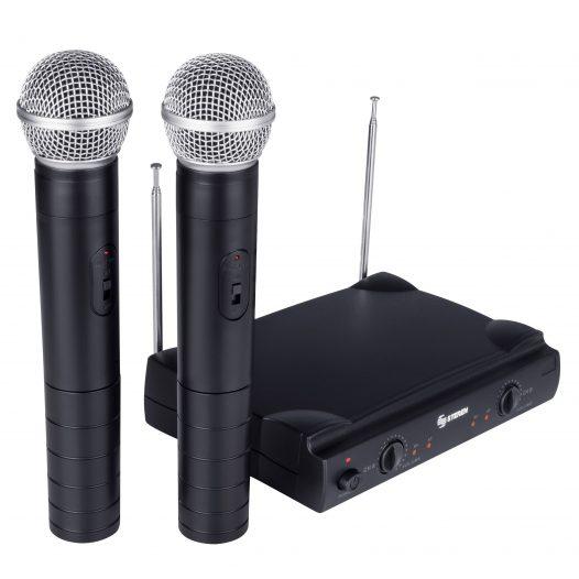 Kit de 2 Micrófonos Inalámbricos VHF marca Steren