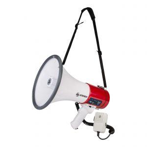 Megáfono de 25 Watts con micrófono tipo patrullero marca Steren