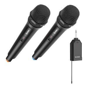 Kit de 2 micrófonos inalámbricos con receptor VHF marca Steren