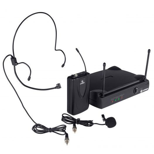 Micrófono Profesional Inalámbrico UHF de solapa o diadema marca Steren