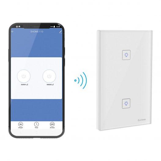 Apagador Touch Wi-Fi doble marca Steren