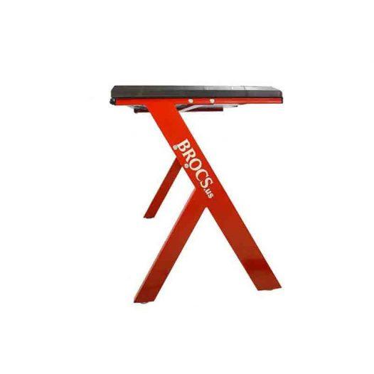 Escritorio Gaming RGB  color Negro con Rojo marca Brocs