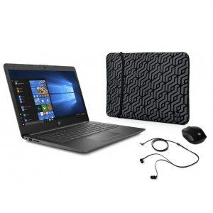 "Laptop HP Celeron 4GB RAM 500GB 14"" W10 Home +Funda+Mouse+Audífonos"