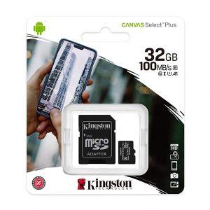 Tarjeta MicroSD de 32GB Canvas Select Clase 10 marca Kingston para Android
