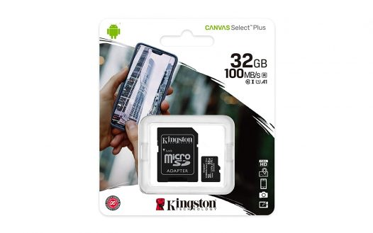 Tarjeta MicroSD de 32GB Canvas Select Plus Clase 10 marca Kingston para Android