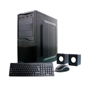 Combo Case ATX de Computadora Fuente 500W+ Teclado Español + Mouse +Bocinas XTECH
