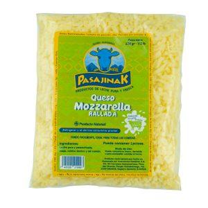 Queso Mozzarella Rallada 1/2 libra marca Pasajinak