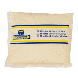 Queso Ricotta 1 Libra con Sal marca Vittalak de Pasajinak