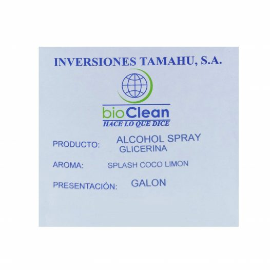 Alcohol Spray por Galón marca Inversiones Tamahu