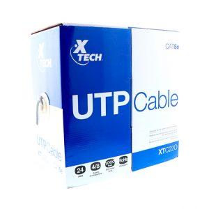 Bobina de Cable UTP RJ-45 Cat5e 1000Pies/305Metros XTECH XTC-220