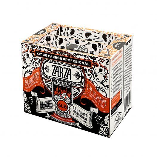 Kit de 6 Libras de Carbón Profesional marca Zarza