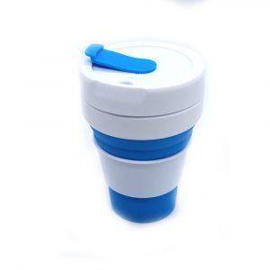 Vaso plegable azul