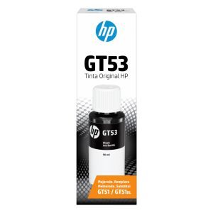 Botella de Tinta HP GT53 de 90ml color Negro