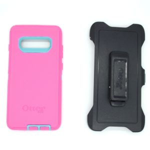 Case Otterbox Defender para S10 plus color celeste-fusia