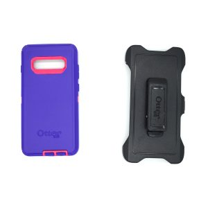 Case Otterbox Defender para S10 plus color morado-rosa